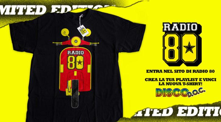 Vinci la T-shirt edizione limitata di Radio 80 con Disco D.O.C.