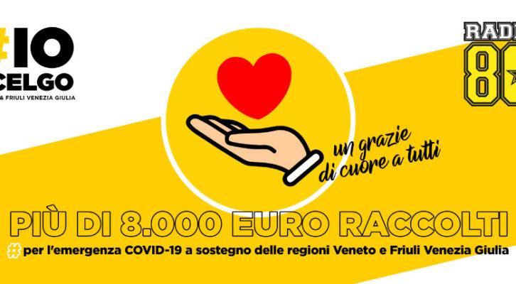 Più di 8.000 euro raccolti #ioscelgoveneto #ioscelgofriuliveneziagiulia