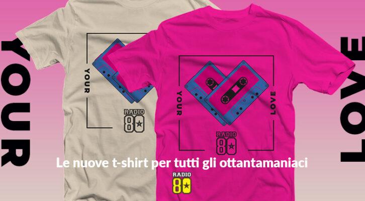 Vinci la nuova t-shirt di Radio 80